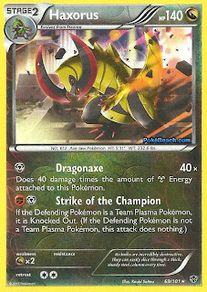 Haxorus Plasma Blast Pokemon Card