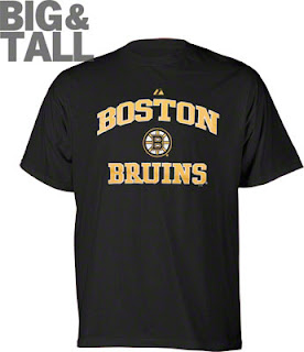 Big and Tall Boston Bruins T-Shirt, Sweatshirt, Hockey Apparel