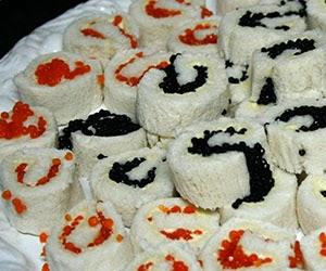 Rollitos de caviar