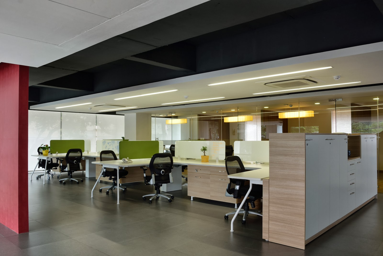 Open office for accel dovetailing for Office ceiling design