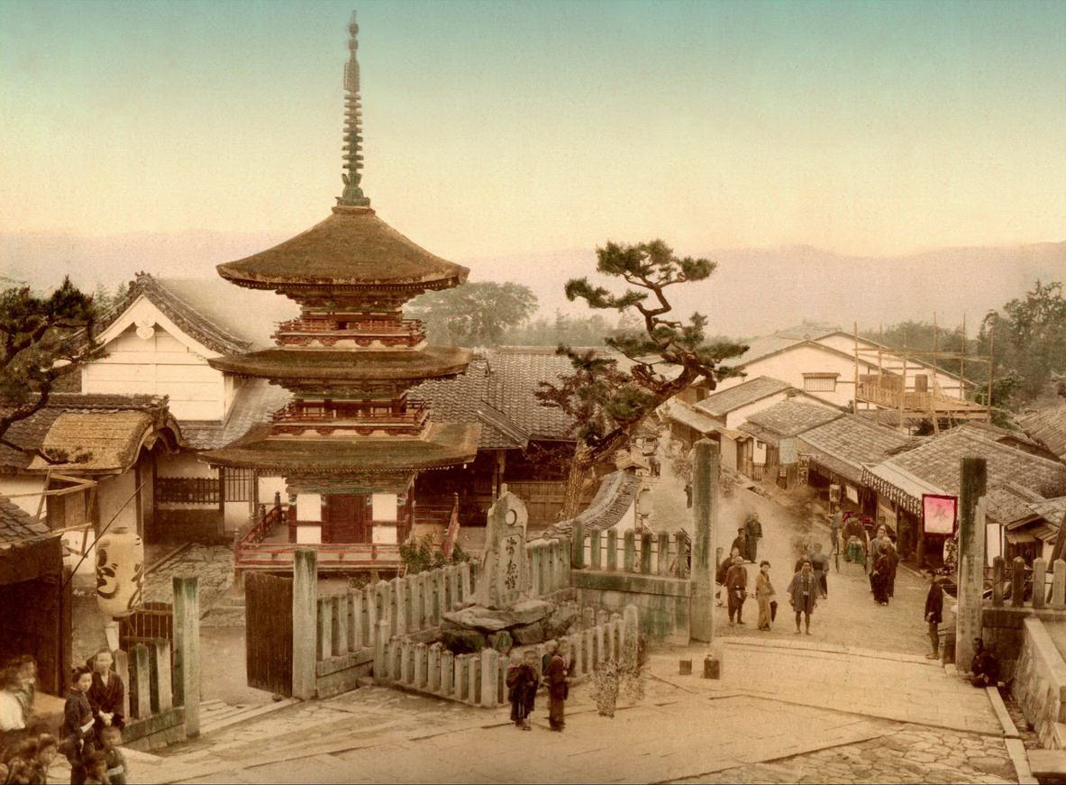 Vintage everyday color photos of life in japan in the late 19th