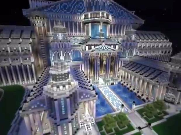 World minecraft fotos de constru es incr veis for Casas modernas grandes minecraft