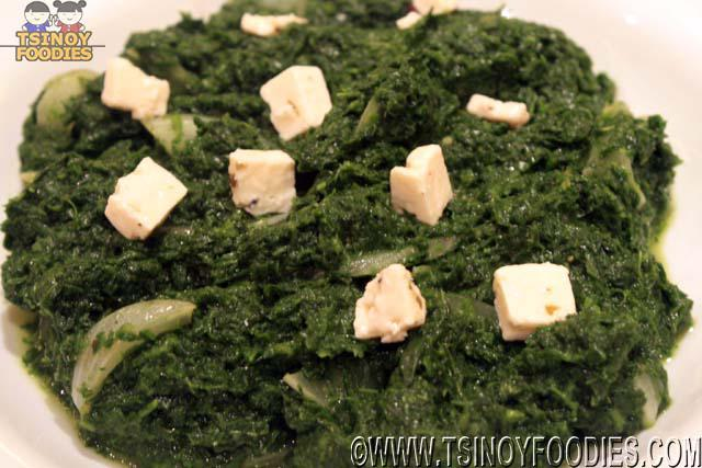 spinach and white cheese