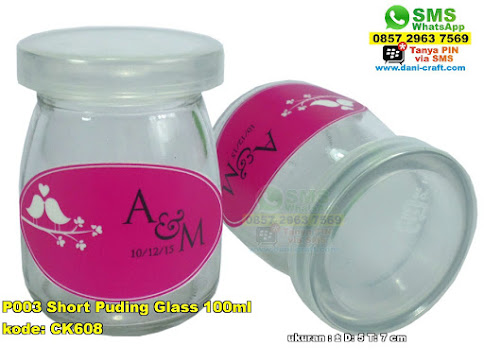 P003 Short Puding Glass 100ml