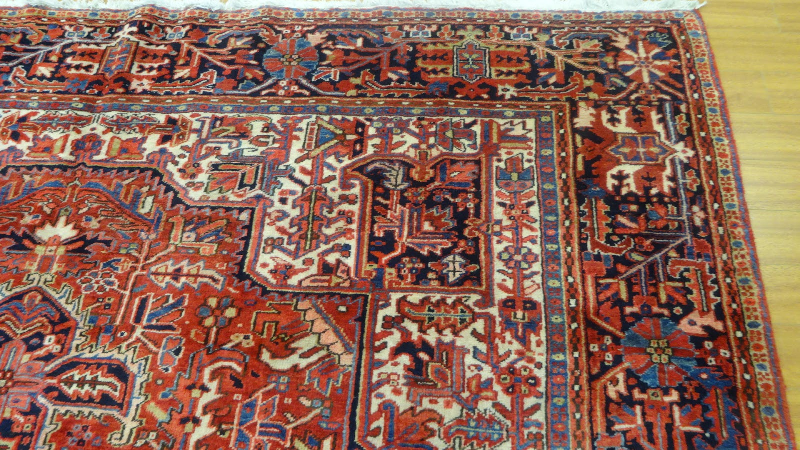 Most Heriz Rugs Are Collectible Pieces Of Art As They Get Better With Age.  Heriz Is A Very Small Town Close To Tabriz In North West Iran.