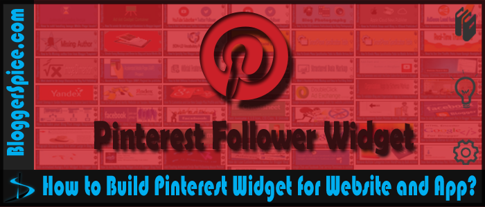 Pinterest widget for Blogger and website