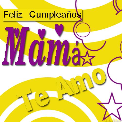 Imagenes Postales y Tarjetas: Tarjeta para Cumpleaños de Mamá gratis