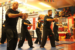 Students from multiple I Liq Chuan groups training with Tempe martial arts instructor Ashe Higgs.