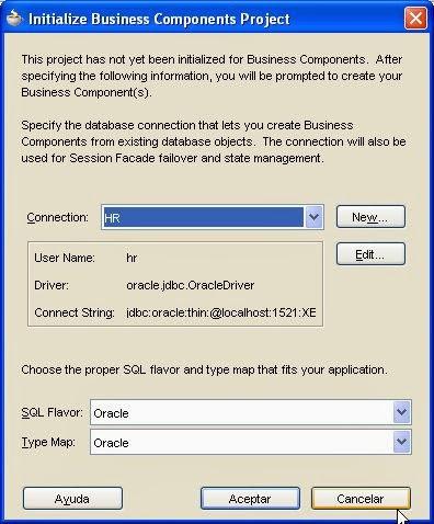 conexion base de datos proyecto ADF