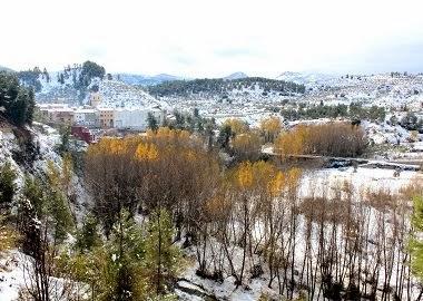Vista general de Benilloba a les 12 hores del 16 de Novembre.