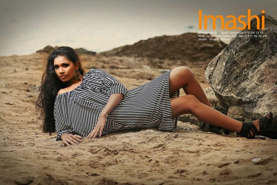 Imasha Dilshani beach sand