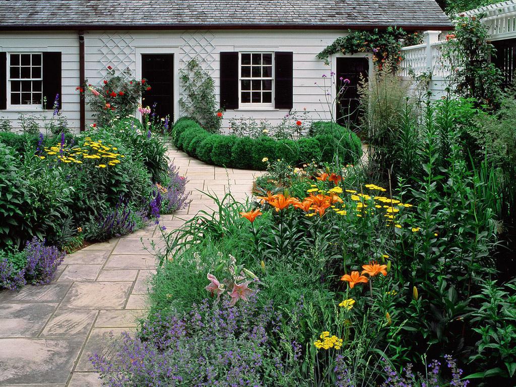 Wallpaper desk cottage garden wallpaper cottage garden for Casas en jardines