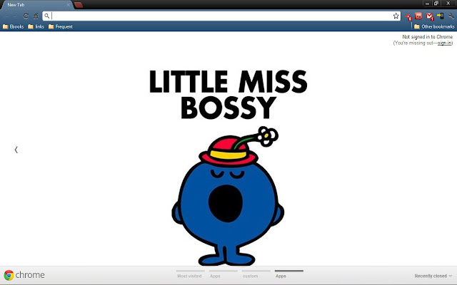 Little Miss Bossy Chrome Theme