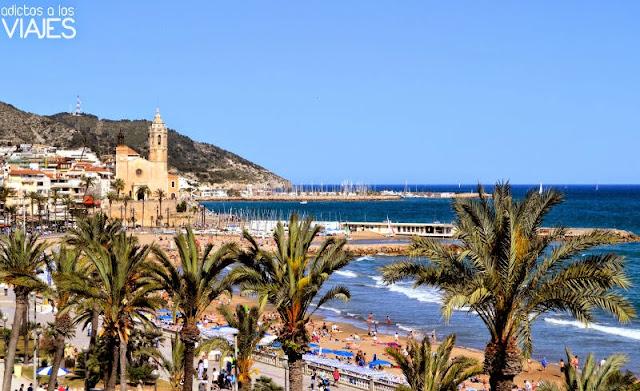 Vistas al mar desde el Hotel Calípolis Sitges