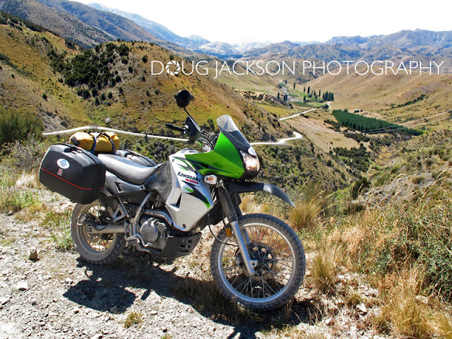 KLR650 - HEADING UP THE MOLESWORTH TRAIL IN THE SOUTH ISLAND