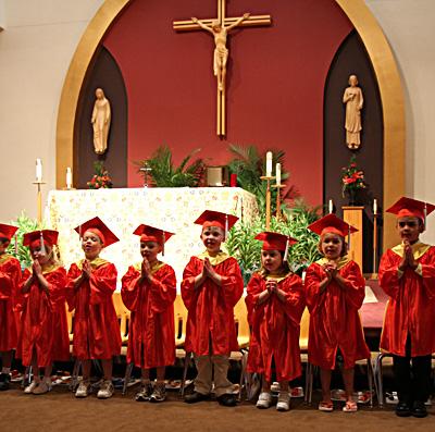pre school graduation. pre-school graduation.