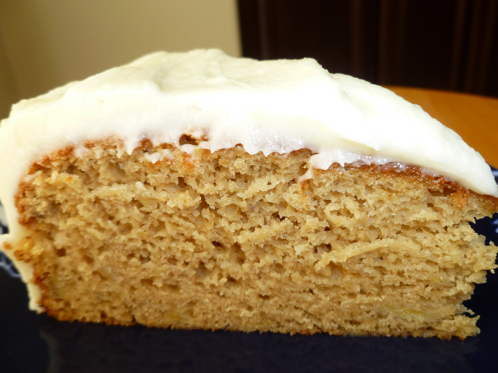 Moist Banana Cake With Cream Cheese Frosting Recipe