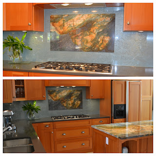 custom glass backsplash