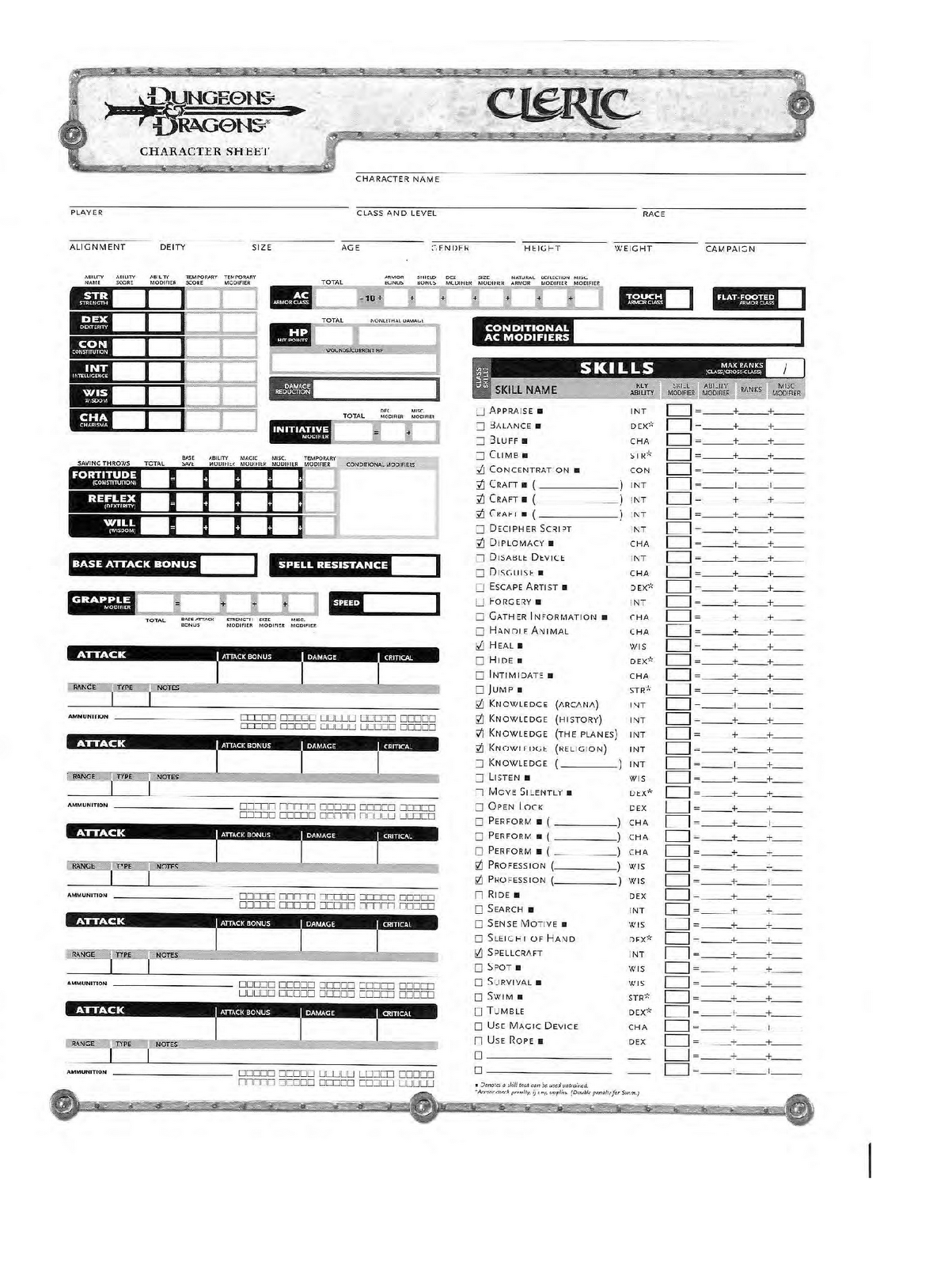 If this is the character sheet you re looking for and you want to