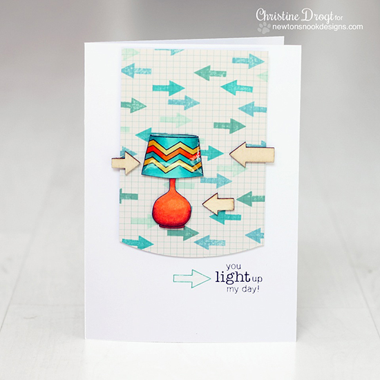 Lamp card by Christine Drogt using the Around the House Stamp set by Newton's Nook Designs