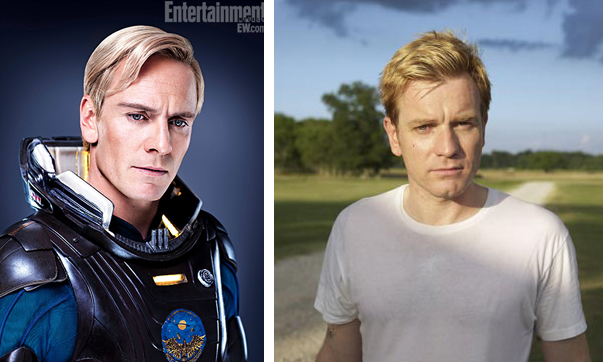 Michael Fassbender and Ewan McGregor side by sdie comparison, look alike, celebrity doppelganger, Ewan McGregor, Michael Fassbender, male actors, hunks, good looking male actor, heart throb