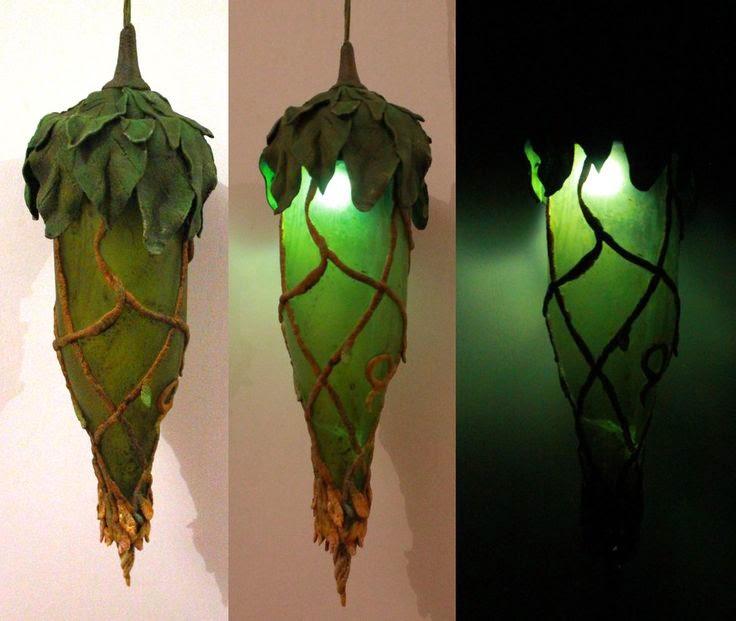 butelkowa lampa