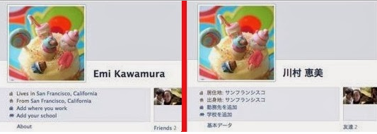 Facebook Profile Name in Native Language