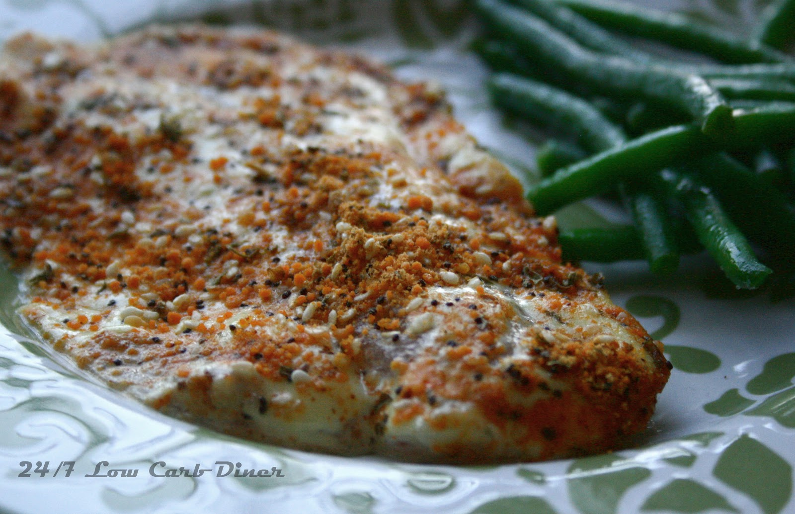 24 7 low carb diner st louis crusted fish fillets for Low carb fish recipes