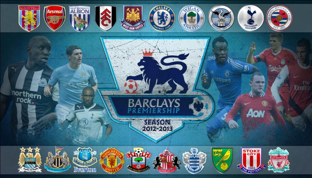 Barclays Premier League Map 2013
