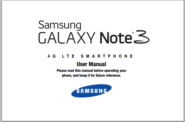 Samsung Galaxy Note 3 Manual Update PDF Download