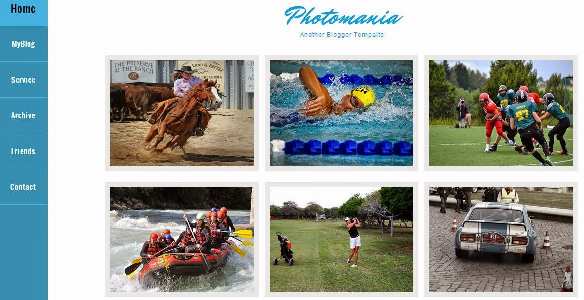 Photomania Blogger Template
