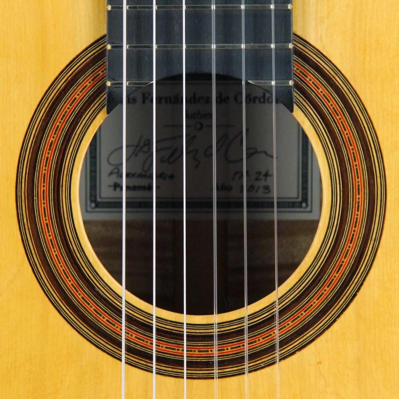 luis fern ndez de c rdoba luthier archive guitar no 24 classical. Black Bedroom Furniture Sets. Home Design Ideas