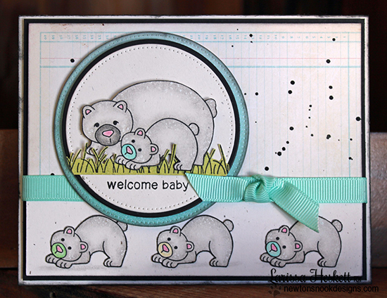 Welcome Baby Bear Card by Larissa Heskett for Newton's Nook Designs | Wild Child Stamp Set