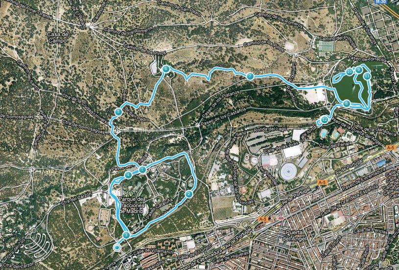 Secret garden casa de campo y el lago de madrid - Mapa de la casa de campo ...