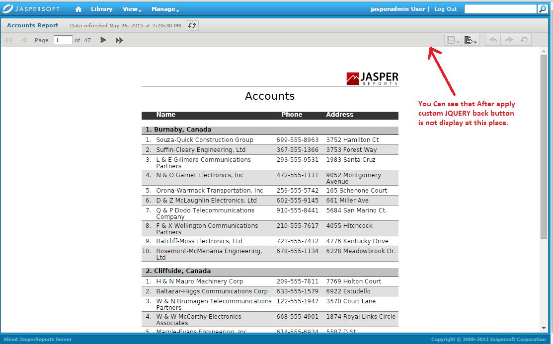 Jasper report complete solution may 2015 for Hide table th jquery