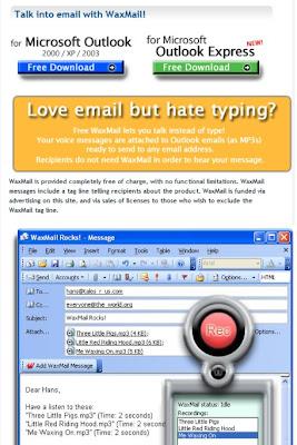 Waxmail para Microsoft Outlook o para Outlook Express