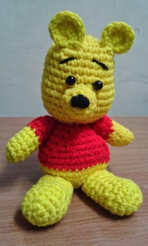 Winnie The Pooh Small Amigurumi Free Pattern Free Crochet Patterns