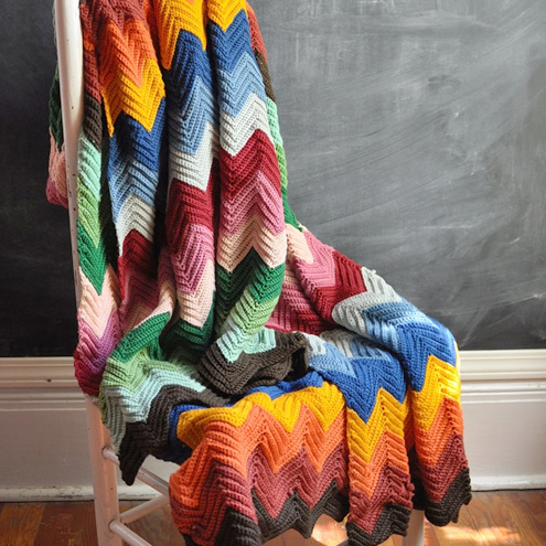 Vintage crochet blanket (photo by: drowsySwords) | Happy in Red