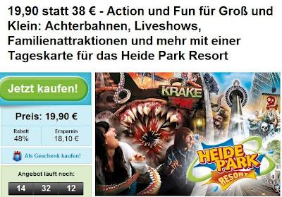 Groupon: Tageskarte für Heide Park Soltau für 19,90 Euro statt 38 Euro