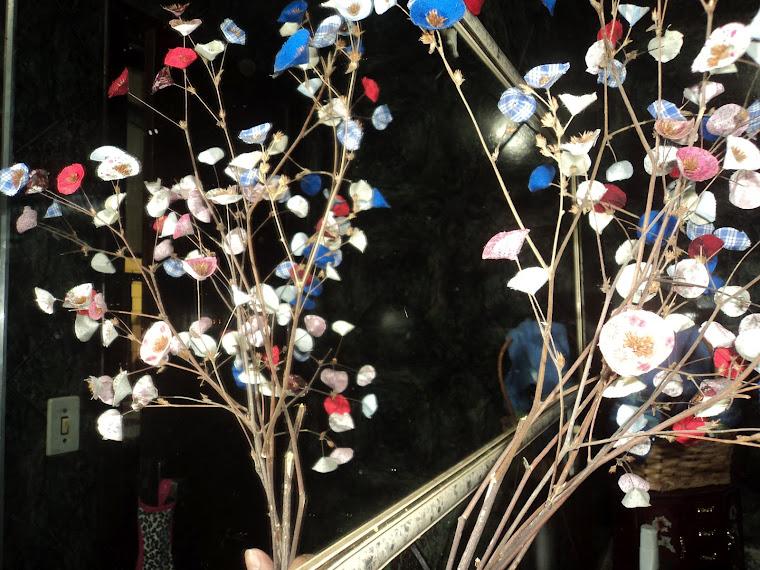 Bouquet pronto das flores de Retalhos de Tecido