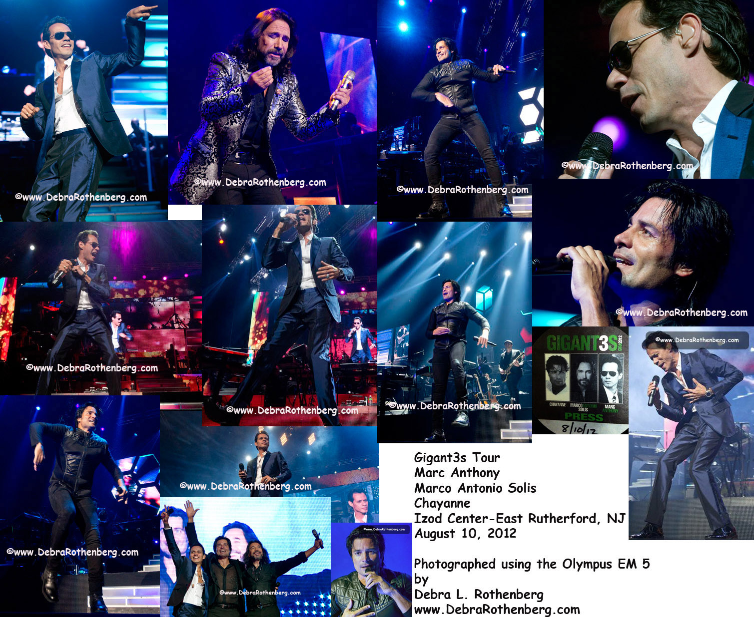 Debra L. Rothenberg Photographer | Gigant3s Tour with Marc Anthony ...