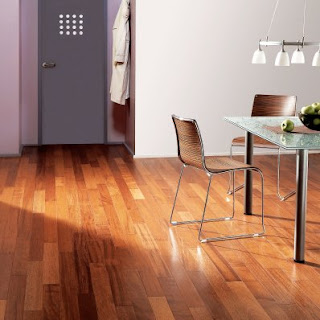 Contoh lantai kayu ruangan bahan HDF