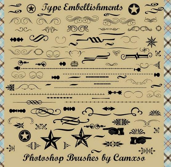 Type Embellishments