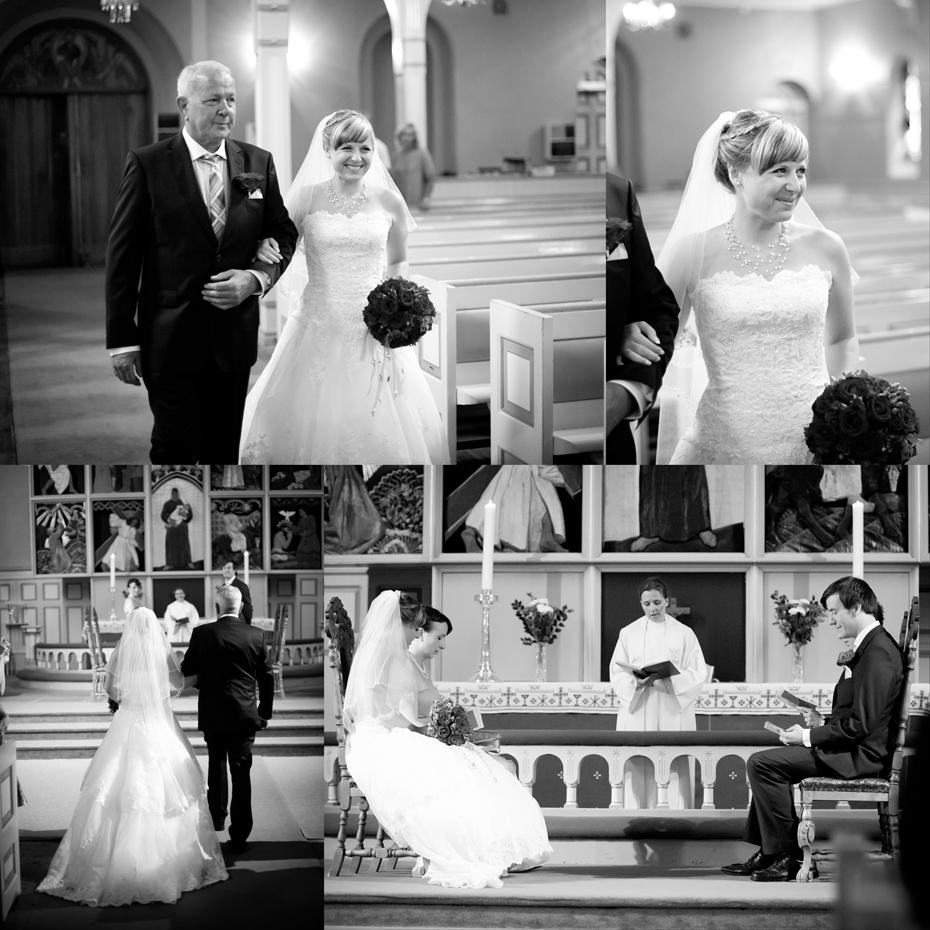 Bryllup i sandefjord kirke - bilder fra vielse