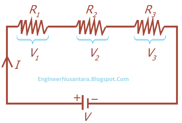 Rangkaian seri komponen elektronika