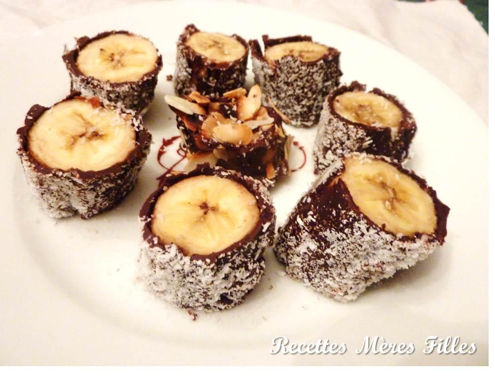 recettes m res filles la recette chocolat makis bananes. Black Bedroom Furniture Sets. Home Design Ideas