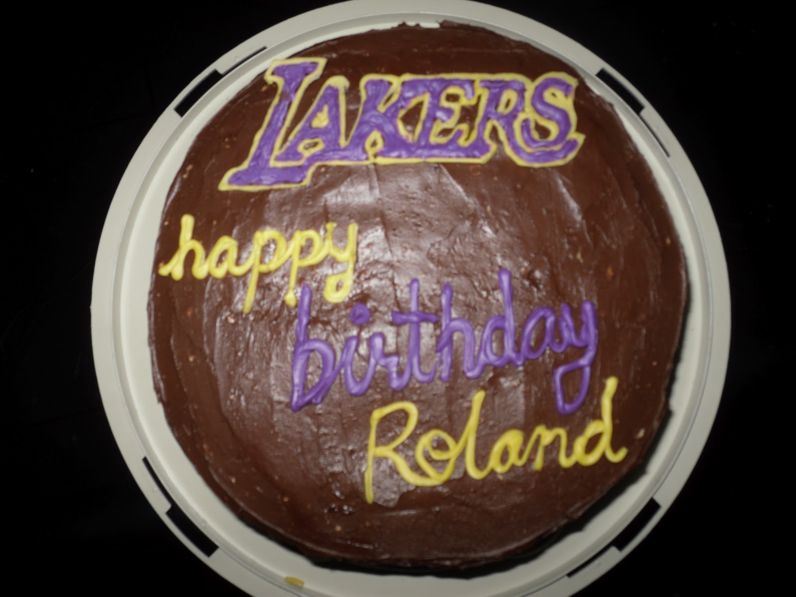 C Cakes Lakers Birthday Cake