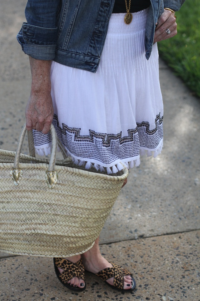 jcrew tassel skirt
