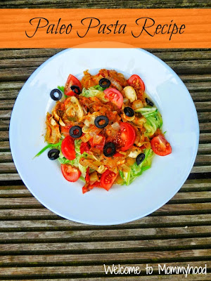 Healthy meal plan: Paleo Pasta by Welcome to Mommyhood
