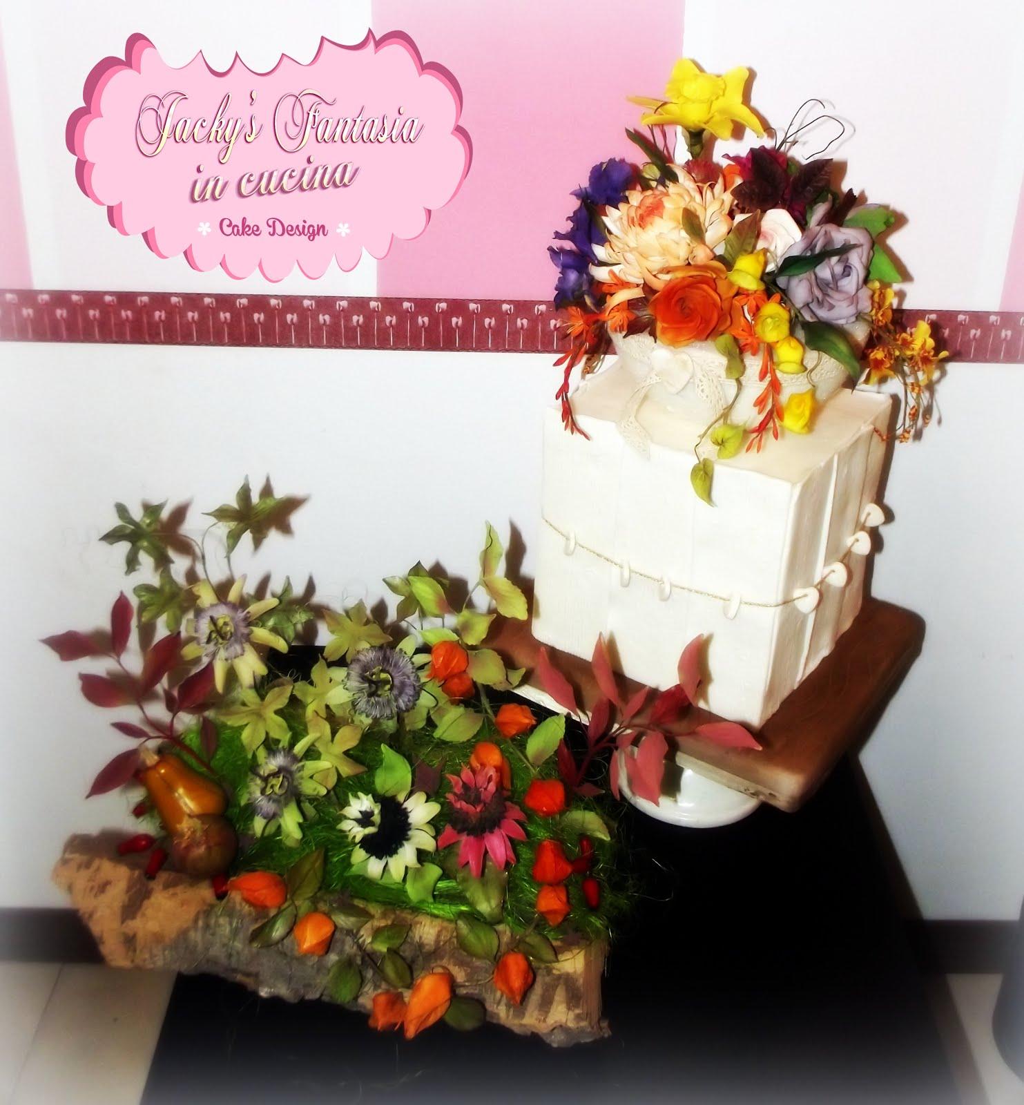Composizione fiori cake festival 2016